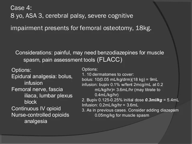Pediatric Neuraxial Anesthesia and Postoperative Pain Management