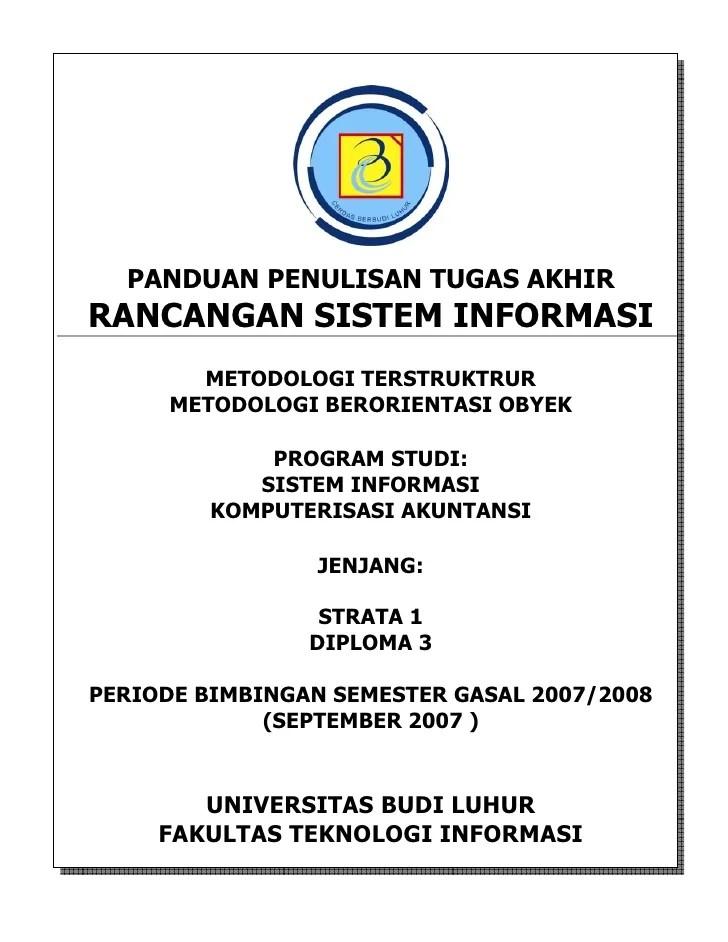 pedoman penulisan tugas akhir si ka september 2007