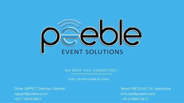 Peeble event solutions innovation event app