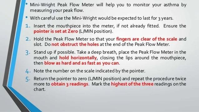 Mini Wright Peak Flow Meter Chart Homeschoolingforfree