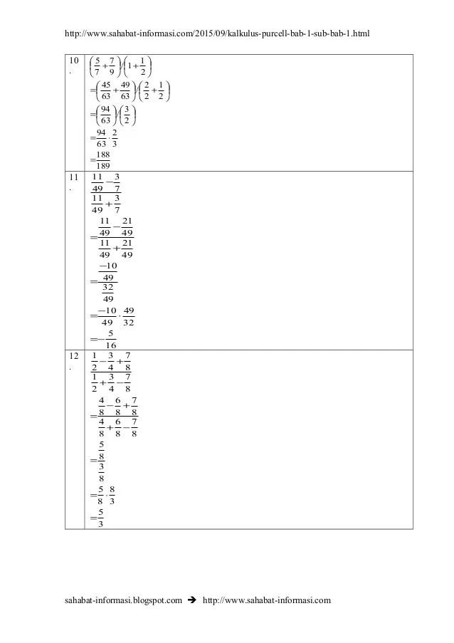 Lihat rumus kalkulus dan prinsip dasar kalkulus: Kalkulus Contoh Soal Dan Jawaban Siswapelajar Com