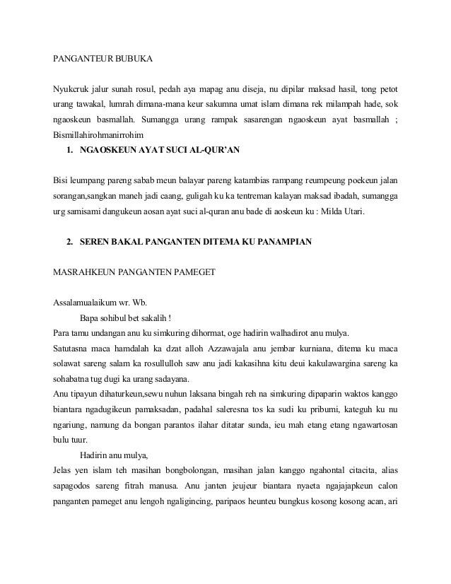 Teks Pembawa Acara Bahasa Sunda Singkat Terkait Teks Otosection