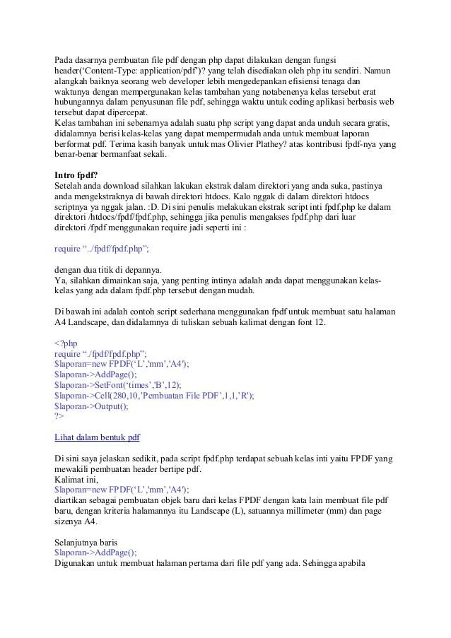 Membuat Laporan Php Dengan Fpdf : membuat, laporan, dengan, Pembuatan, Report