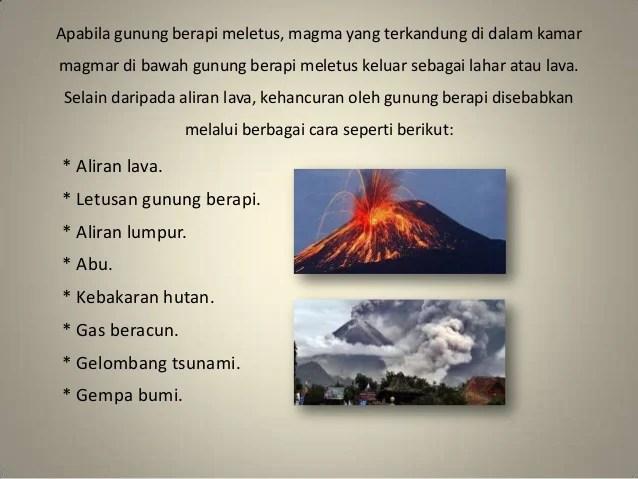 Pencemaran lingkungan akibat letusan gunung api
