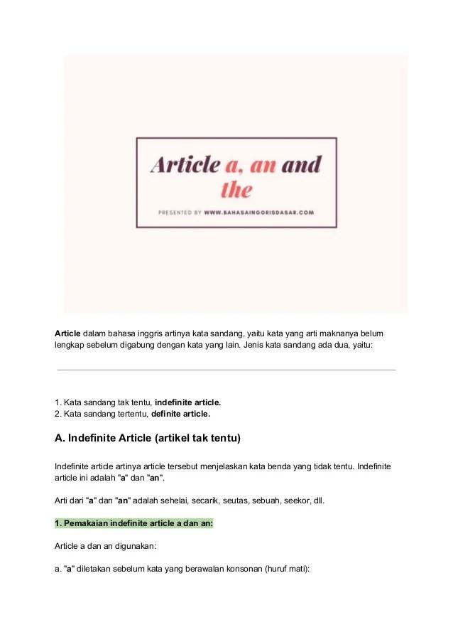 Contoh Kalimat As : contoh, kalimat, Pengertian, Article, The),, Jenis, Contoh, Kalimat, Dalam, Ba…