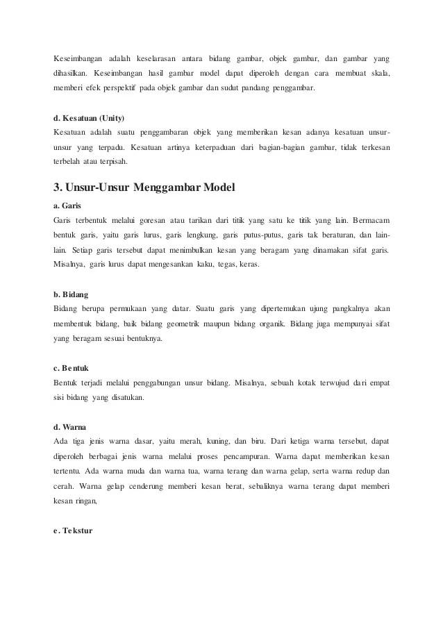 Menggambar Model : Pengertian, Prinsip dan Unsur - Unsur...
