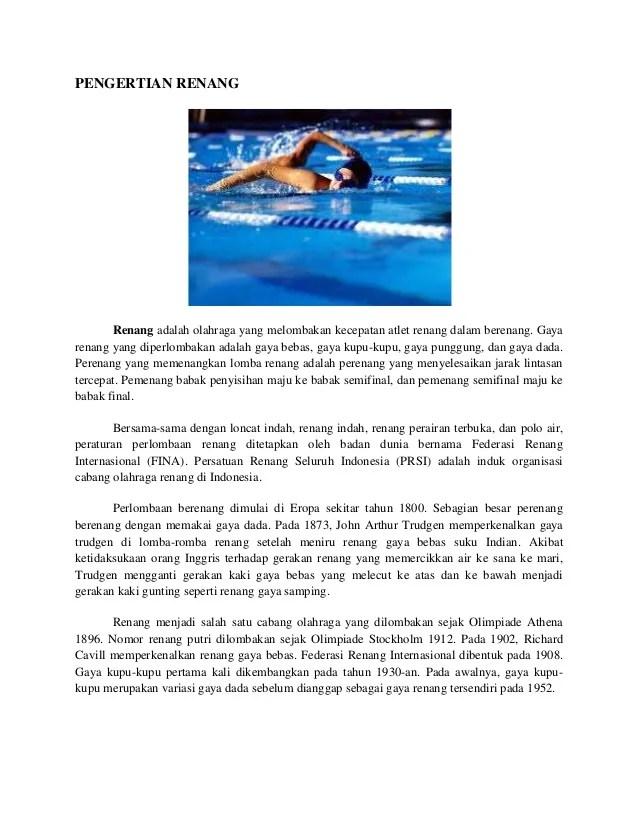 Apa Manfaat Pemanasan Sebelum Berenang : manfaat, pemanasan, sebelum, berenang, Pengertian, Renang