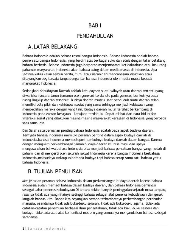 Latar Belakang Bahasa Indonesia : latar, belakang, bahasa, indonesia, Peranan, Bahasa, Indonesia, Dalam, Perkembangan, Budaya, Daerah