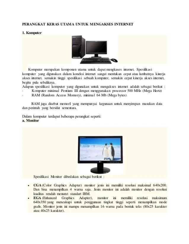 Contoh Perangkat Keras Komputer : contoh, perangkat, keras, komputer, Perangkat, Keras, Utama, Untuk, Mengakses, Internet