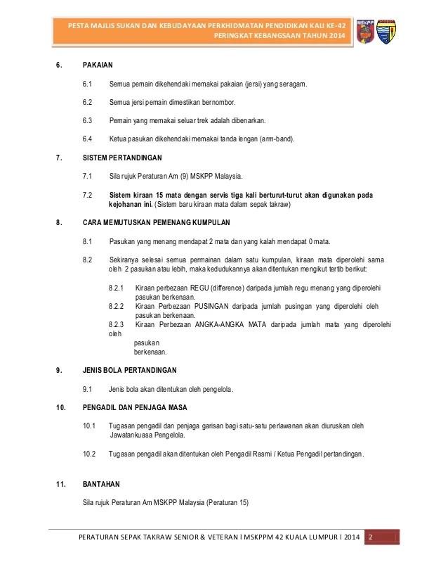 Peraturan Takraw : peraturan, takraw, Peraturan, Sepak, Takraw, Senior, Veteran