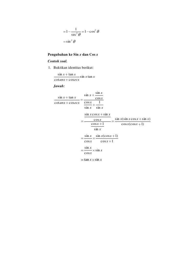 Contoh Soal Identitas Trigonometri : contoh, identitas, trigonometri, Contoh, Identitas, Trigonometri, Pelajaran, Puisi, Pidato, Populer