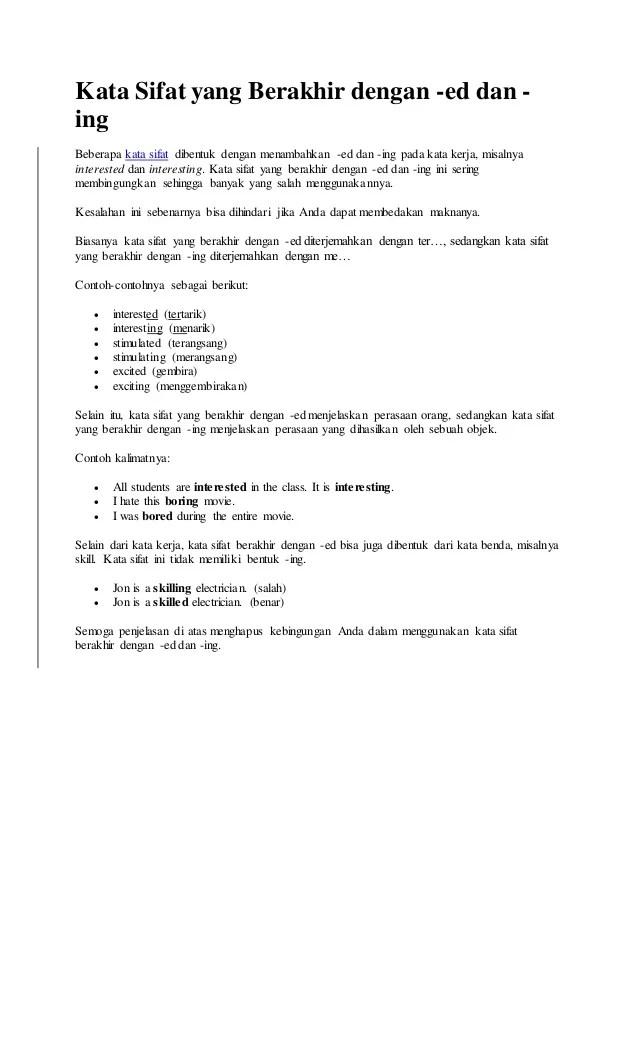 Contoh Kalimat Kata Sifat : contoh, kalimat, sifat, Contoh, Kalimat, Sifat, Dalam, Bahasa, Inggris, Beserta, Cute766