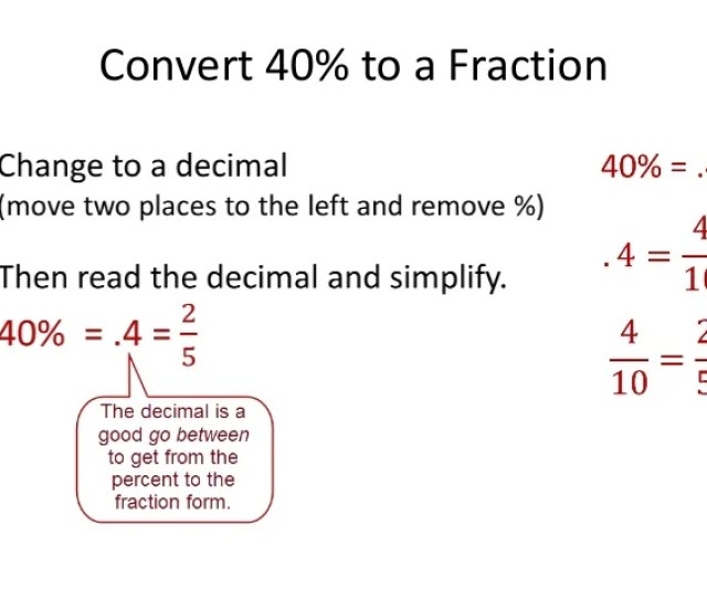 Convert 40 To A Fraction
