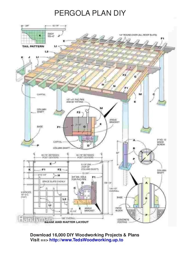 Free Pergola Plans Pdf Download Download Diy Woodworking Projects Plans Visit