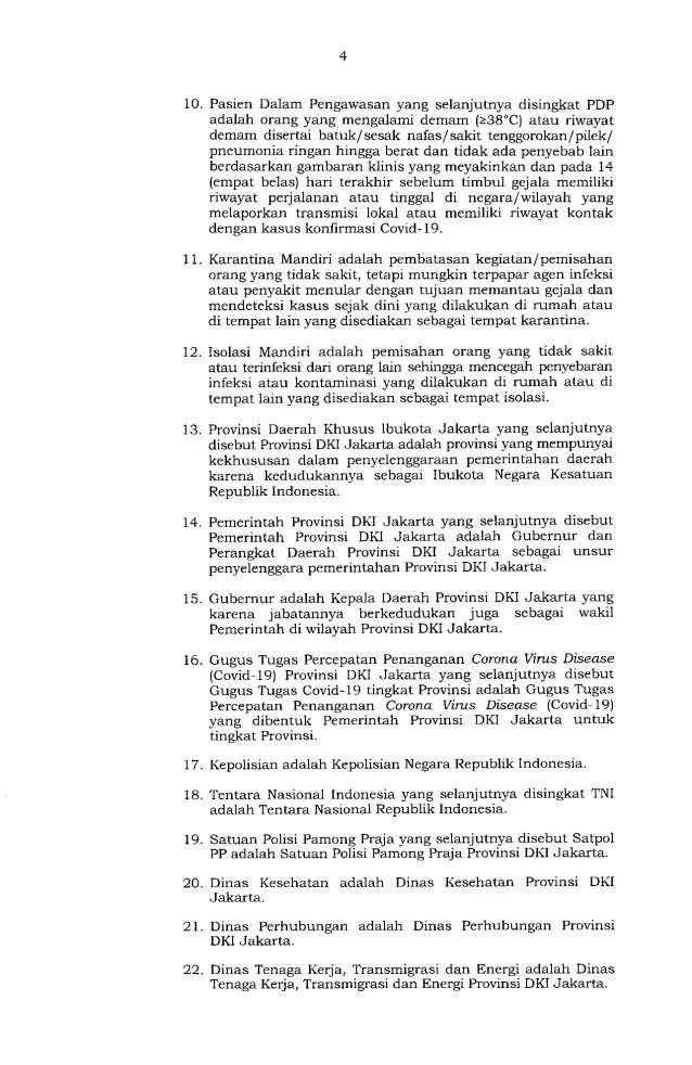 Gubernur Anies Keluarkan Pergub soal Pelaksanaan PSBB Transisi, Ini Isinya 4