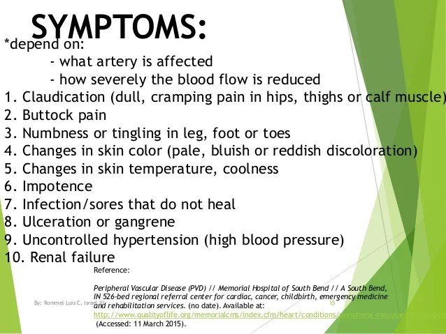 Image result for symptoms and complications of pvd