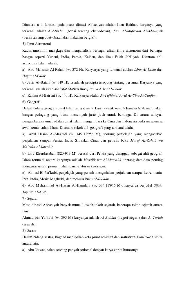 Hikmah Mempelajari Sejarah Ilmu Pengetahuan Bani Umayyah : hikmah, mempelajari, sejarah, pengetahuan, umayyah, Perkembangan, Pengetahuan, Daulah, Abbasiyah