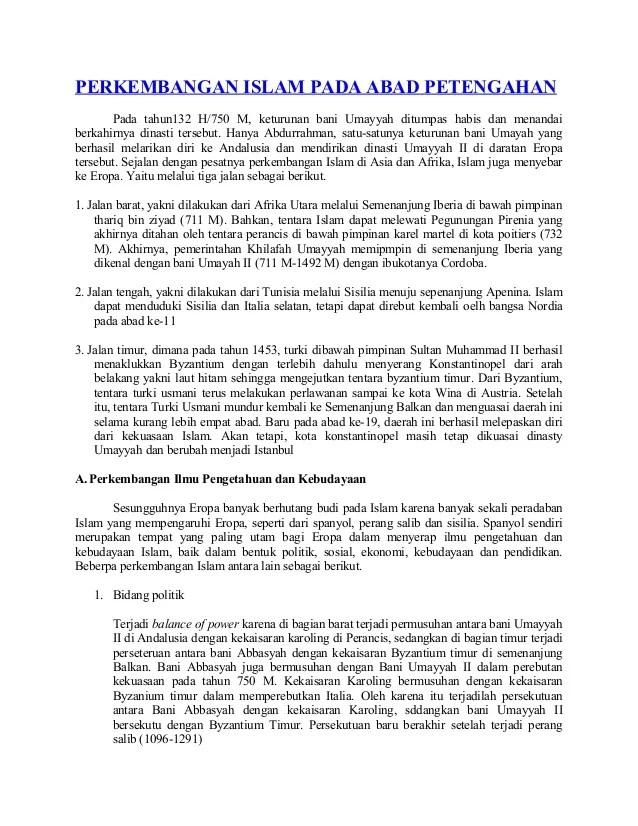 Sejarah Perkembangan Islam Di Eropa : sejarah, perkembangan, islam, eropa, Perkembangan, Islam