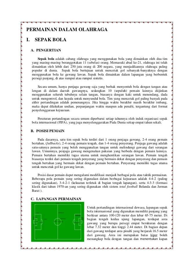 Pengertian Olahraga Permainan : pengertian, olahraga, permainan, Permainan, Dalam, Olahraga