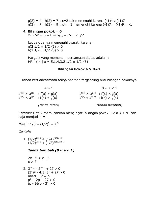 Contoh Soal Eksponen Kelas 10 Dan Pembahasannya : contoh, eksponen, kelas, pembahasannya, Contoh, Pembahasan, Persamaan, Eksponen, Kelas, Berbagai