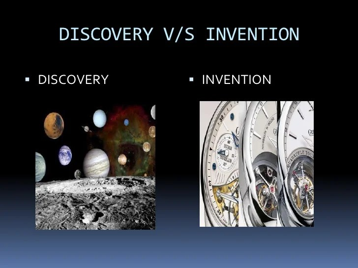 Discovery V S Invention