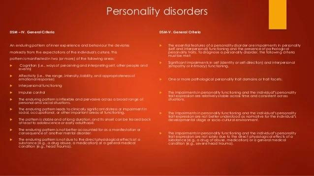 Personality Disorders (Antisocial & Borderline