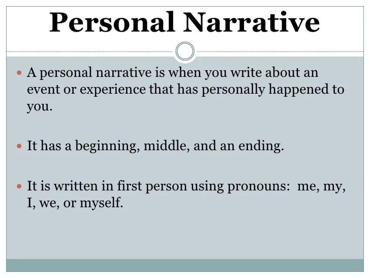 Personal Narrative Notes