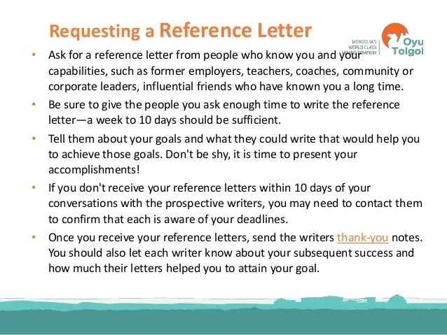 who should you ask to write a letter of recommendation