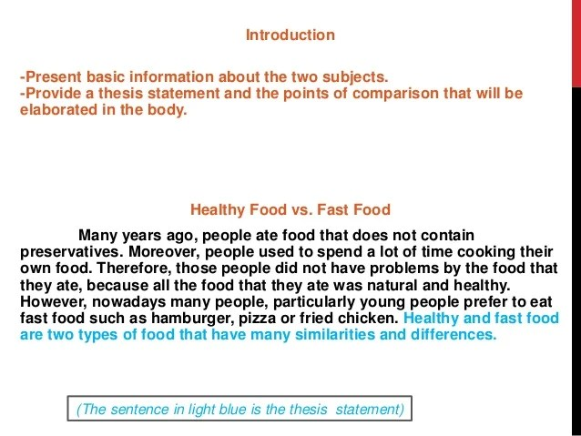 Essay about healthy food