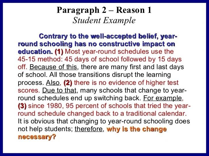 year round school persuasive essay