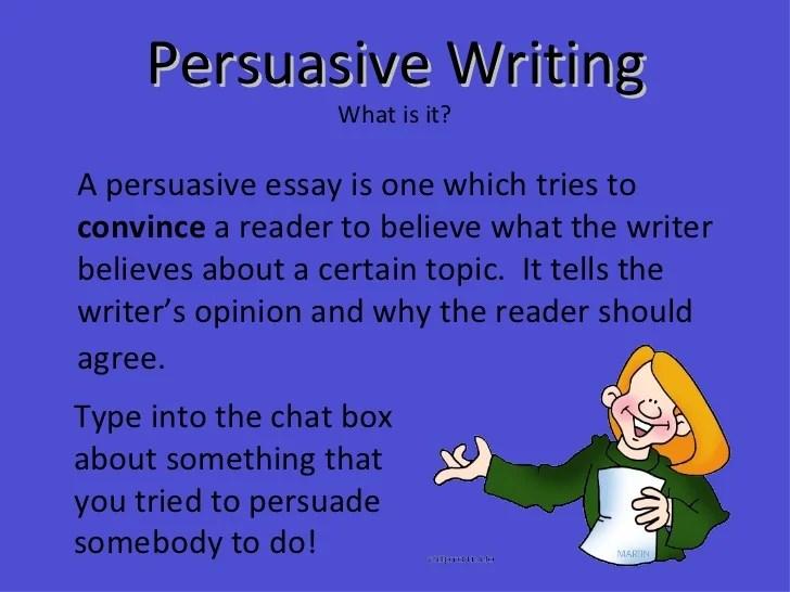 topic ideas for persuasive essay