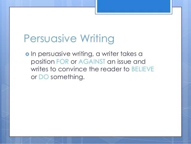 writing a persuasive speech ppt