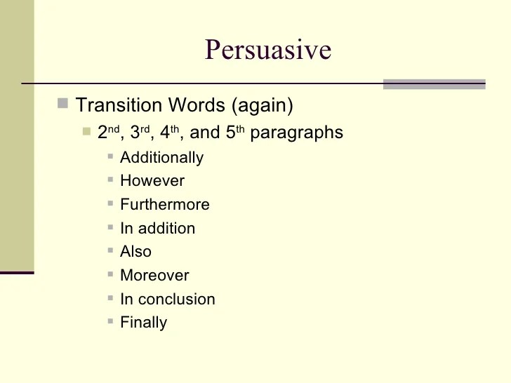 transition words for a persuasive essay extraordinary best