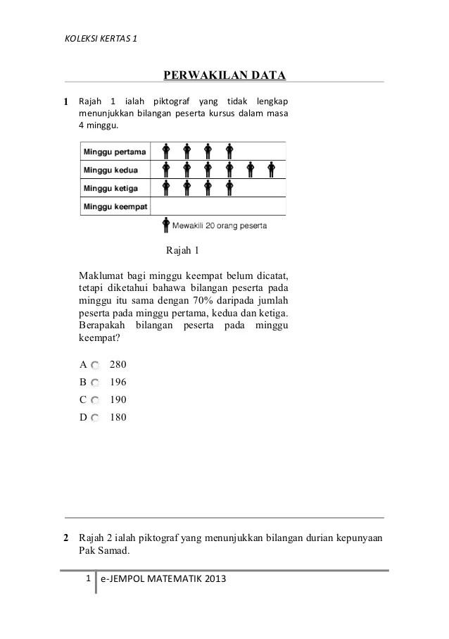 Matematik Tahun 6 Bab 11 Pengurusan Data Cute766