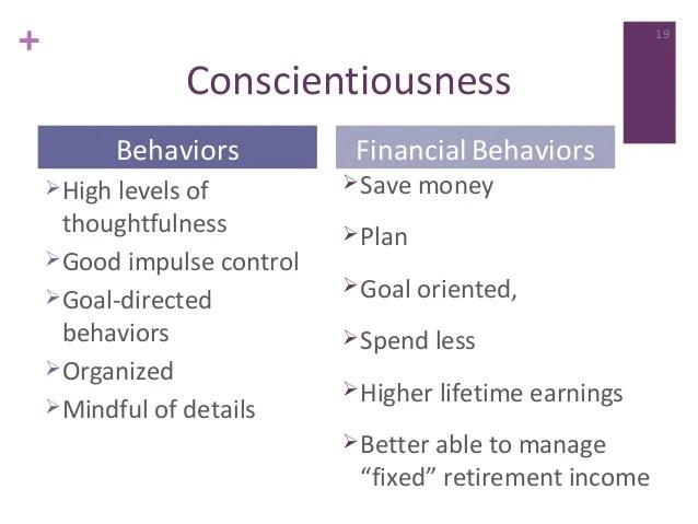 Conscientiousness Personality Traits Pdf - Idee per la decorazione