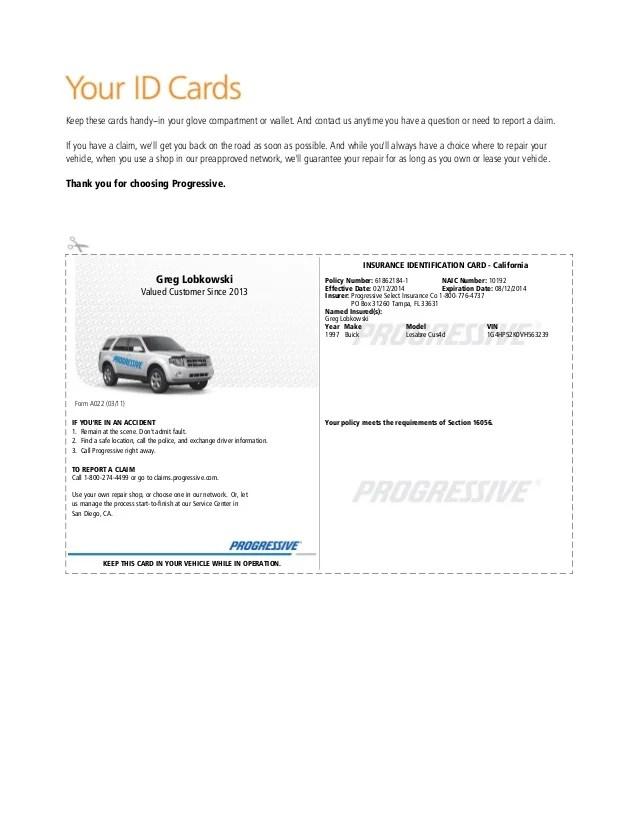 Automobile Insurance Automobile Insurance Identification Card
