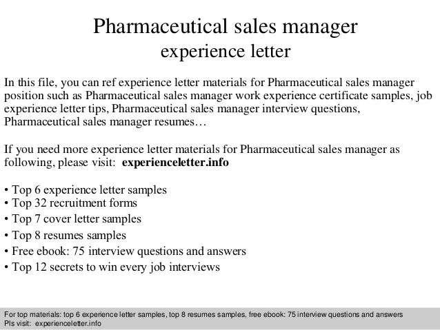 pharmaceutical sales cover letter no experience