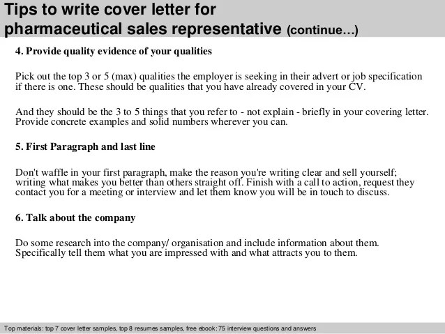 cover letter pharmaceutical company