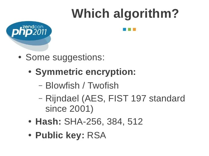 Cryptography in PHP use cases