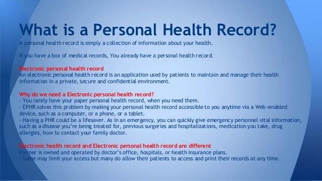 personal health record app