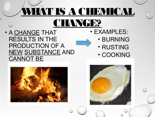 CHEMICAL CHANGE EXAMPLES Alisen Berde