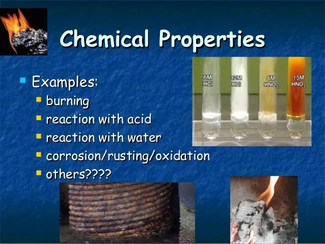 Physical Mechanical Chemcial Properties Of Materials