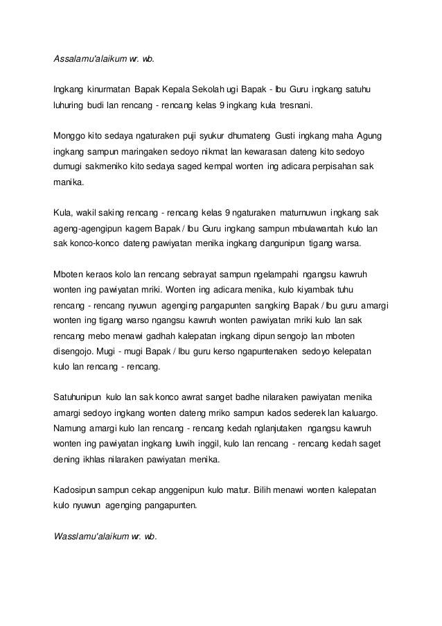 Contoh Sesorah Bahasa Jawa : contoh, sesorah, bahasa, Struktur, Sesorah, Bahasa, Terbaik, Kumpulan, Referensi, Cute766