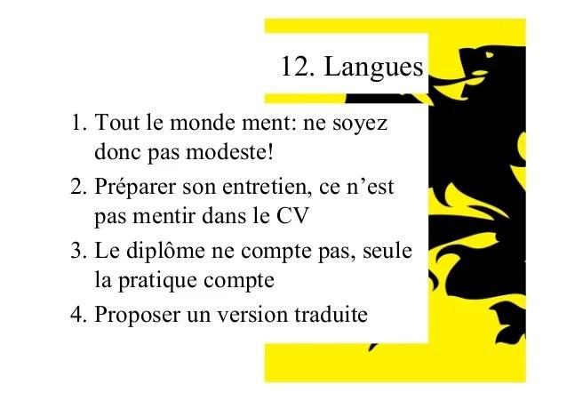 cv langue notion