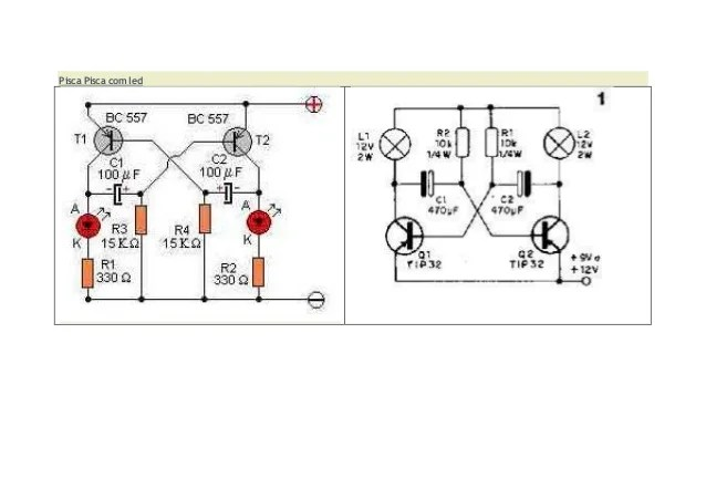 circuito de led usando transistores