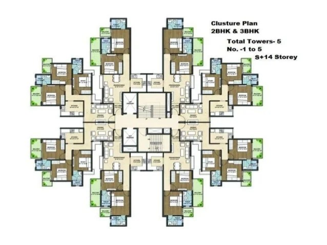 Pivotal Paradise Affordable Housing Sector Gurgaon - Cluster home floor plans