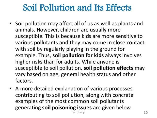 How to prevent land pollution essay docoments ojazlink for Soil and water facts