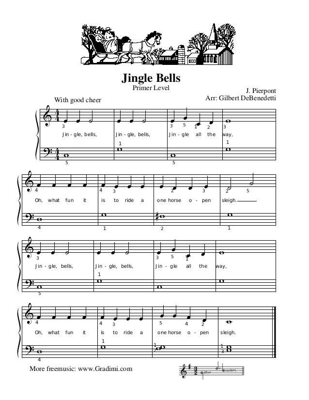 Jingle Bells Piano Notes In Numbers : jingle, bells, piano, notes, numbers, Jingle, Bells, PIANO
