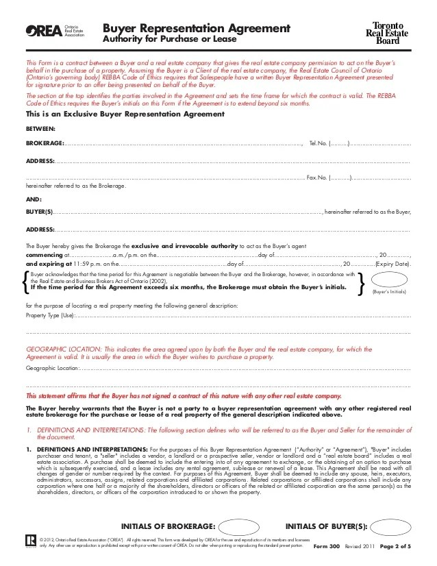 Agreement To Lease Form 400 From Orea Sample Resume For