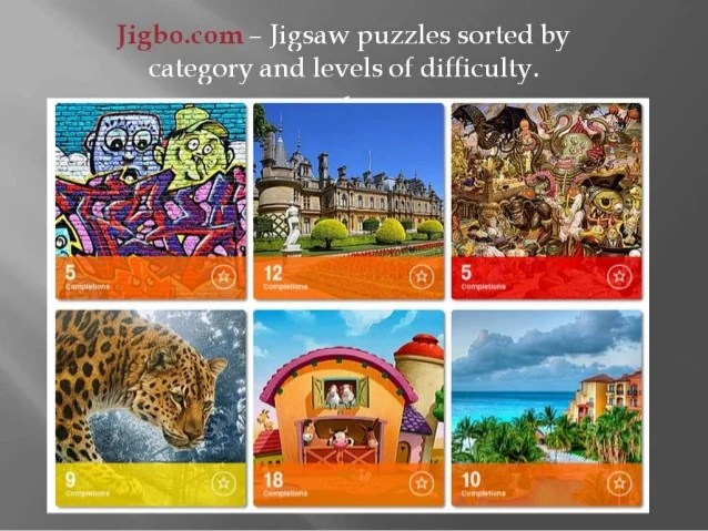 Play Jigsaw Puzzles Online At Jigbo.com